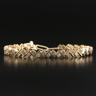 14K 4.14 CTW Diamond Link Bracelet