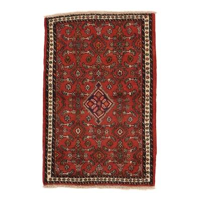 2'6 x 3'11 Hand-Knotted Persian Zanjan Rug, 1980s