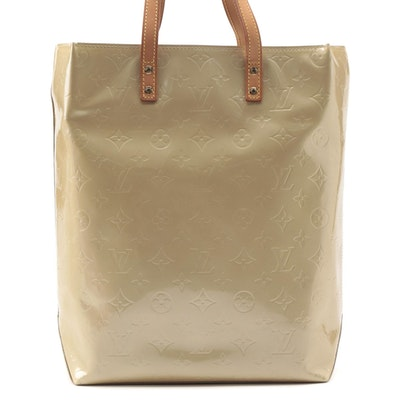 Louis Vuitton Reade MM Tote in Beige Monogram Vernis