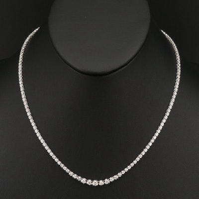 18K 3.04 CTW Diamond Rivière Necklace