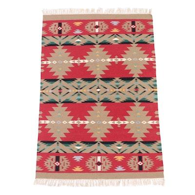4'1 x 6'5 Handwoven Southwestern Style Wool Area Rug