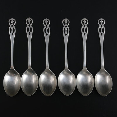 Lanson Ltd. of Birmingham Sterling Silver Demitasse Spoons, 1940
