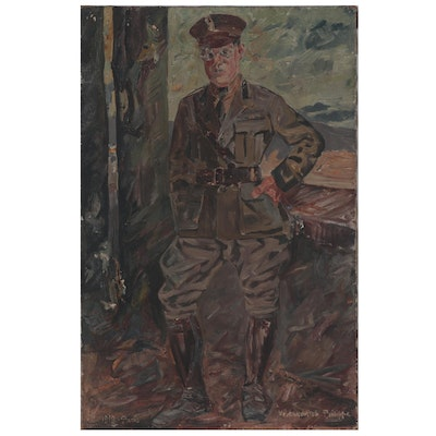 Voutchkov Itch Philippe Portrait Oil Painting of British Solider, 1919