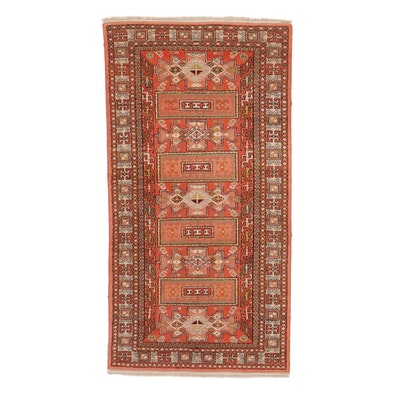 3'5 x 6'5 Hand-Knotted Turkish Caucasian Village Rug, 1970s