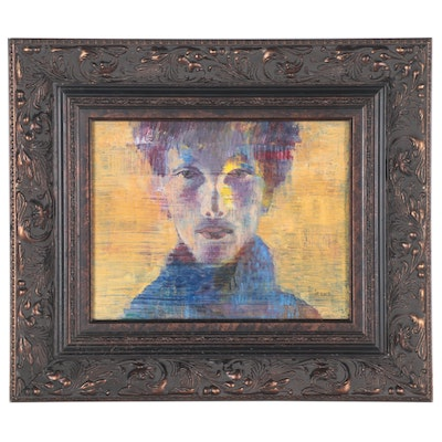 Abstract Portrait Oil Painting of Young Man, 2013