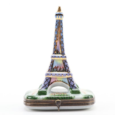 La Gloriette Hand-Painted Porcelain Eiffel Tower Limoges Box