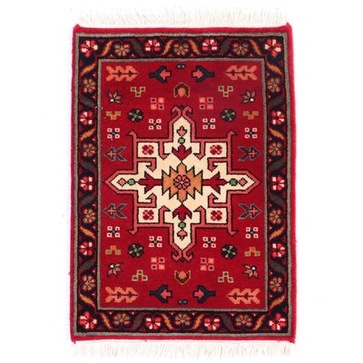 "1'5 x 2'2 Hand-Knotted Indian Cottage Industries Indian ""Karaja"" Wool Floor Mat"