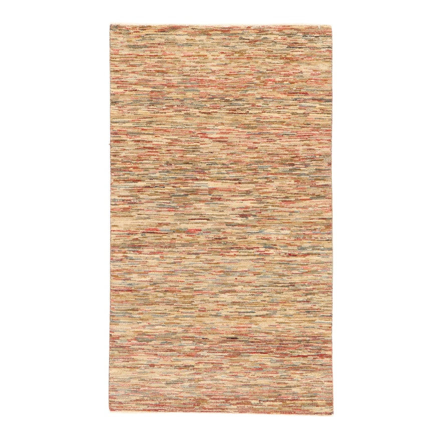 2'11 x 5'1 Hand-Knotted Indo-Persian Gabbeh Rug, 2000s
