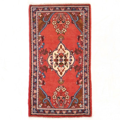 2'4 x 4'2 Hand-Knotted Persian Lilihan Rug, 1980s
