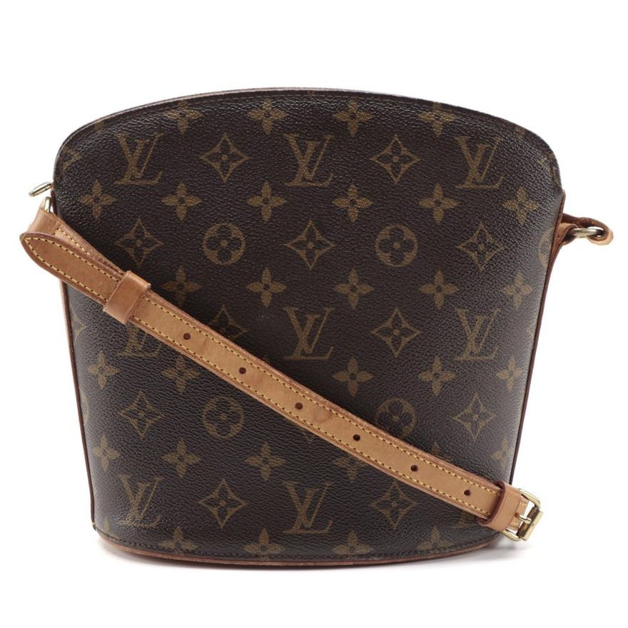 Louis Vuitton Drouot Crossbody Bucket Bag in Monogram Canvas