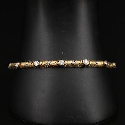 18K 1.17 CTW Diamond Link Bracelet