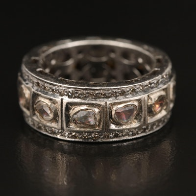 Sterling Diamond Eternity Band