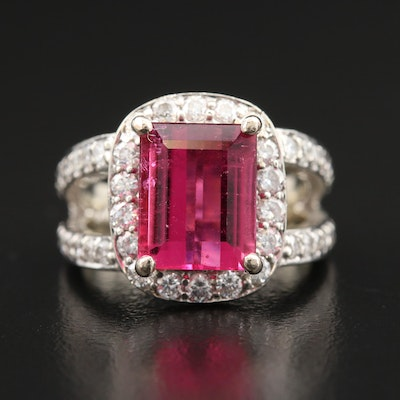 14K 3.16 CT Tourmaline and 1.44 CTW Diamond Ring