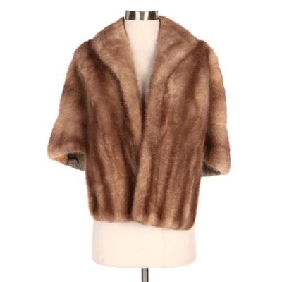 Mink Fur Stole with Shawl Collar