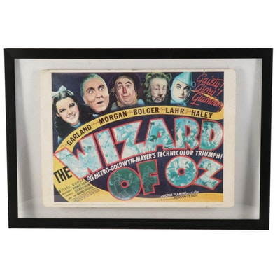 """The Wizard of Oz"" Reproduction Movie Poster in Floating Frame"