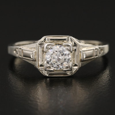 Early Art Deco 18K Diamond Ring