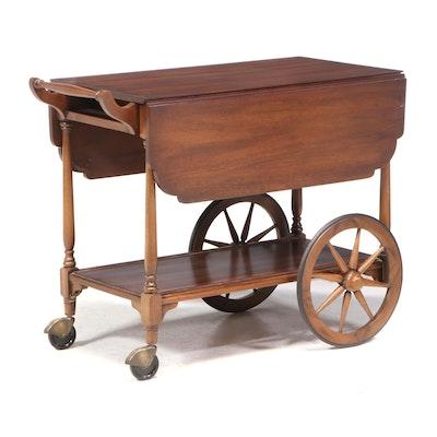"""Henkel-Harris """"Virginia Galleries"""" Mahogany Drop-Leaf Serving Cart, Late 20th C."""