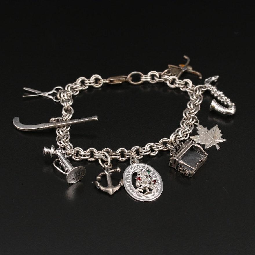 Vintage Sterling Charm Bracelet