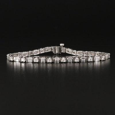 Platinum 3.15 CTW Diamond Tennis Bracelet