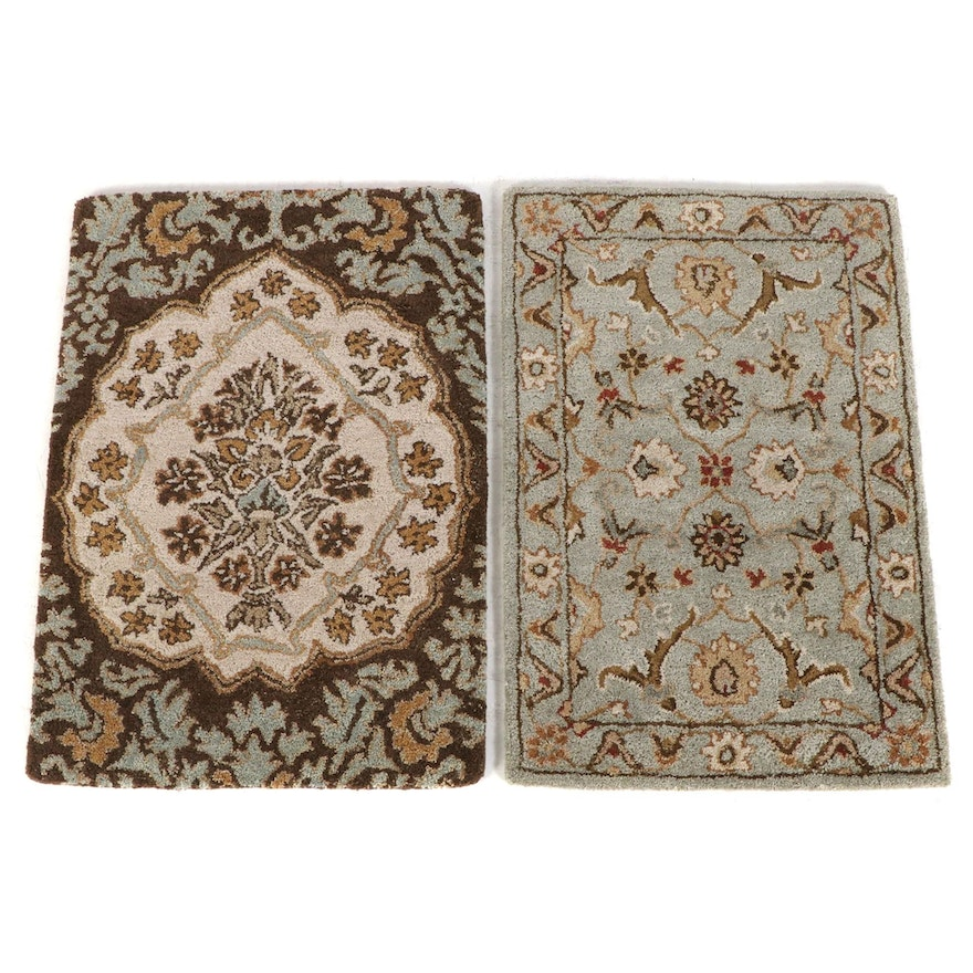 2' x 3' Hand-Tufted Indian Wool Accent Rugs from The Rug Gallery