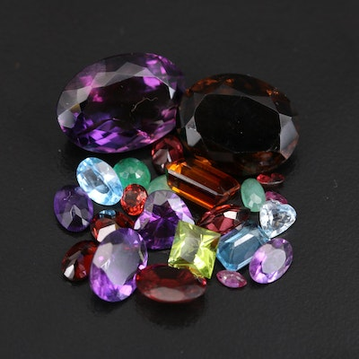 Loose 38.89 CTW Gemstones Including Amethyst, Garnet and Beryl