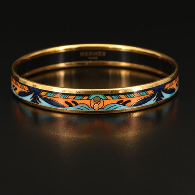 Hermès Multicolor Enamel Bangle