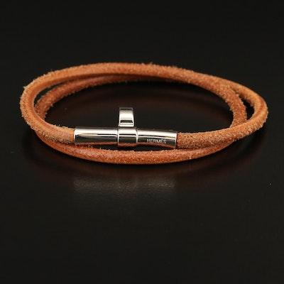 Hermès Leather Double Tour Bracelet