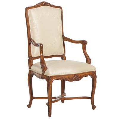 John Widdicomb Louis XV Style Open Armchair, 21st Century