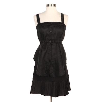 Vera Wang and Morgan Black Sleeveless Top and Pleated Miniskirt