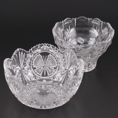 American Brilliant Cut Glass Bowls