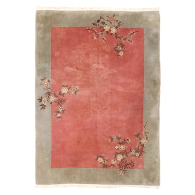 8'3 x 12' Hand-Knotted Chinese Nichols Style Room Sized Rug
