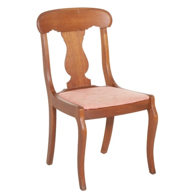 Classical Style Cherry Side Chair, Mid-20th Century