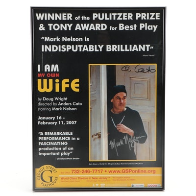 """Mark Nelson and Anders Cato Signed """"I Am My Own Wife"""" Framed Poster Print"""