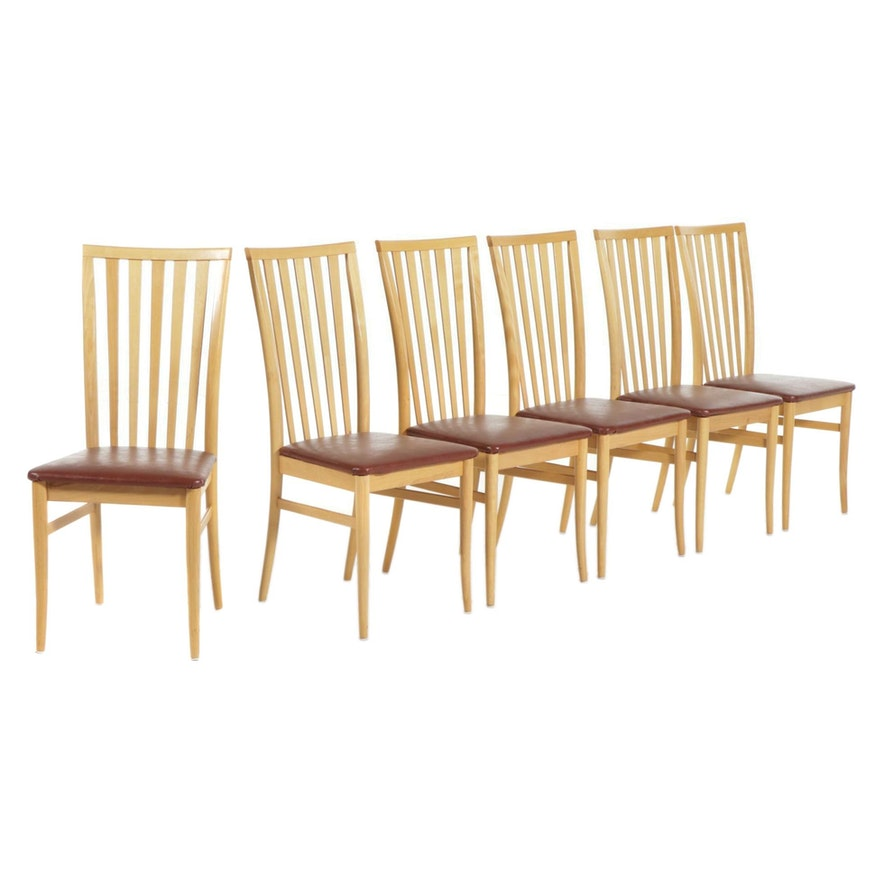 Workbench Contemporary Furniture Italian Blonde Wood Dining Chairs