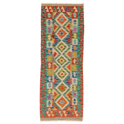 2'4 x 6'5 Handwoven Afghan Kilim Carpet Runner