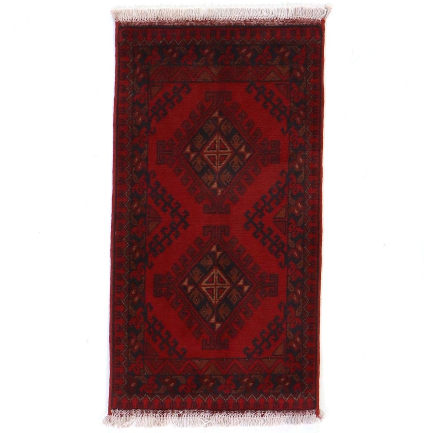 1'9 x 3'6 Hand-Knotted Afghan Khal Mohammad Accent Rug