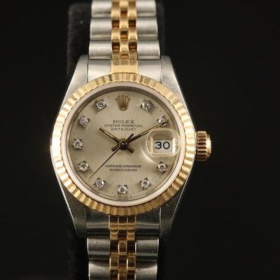 1989 Rolex Datejust Diamond Dial Wristwatch