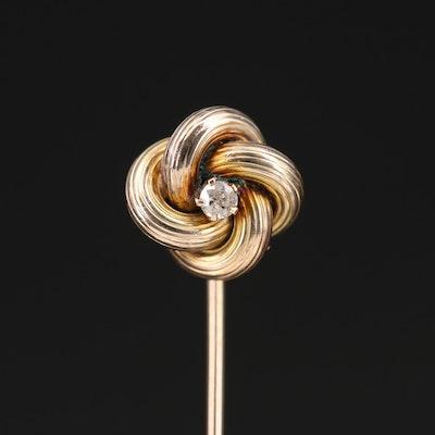 Love Knot Diamond Stick Pin