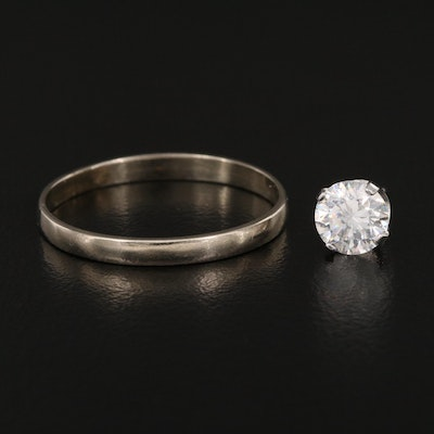14K Single Stud Earring and Band
