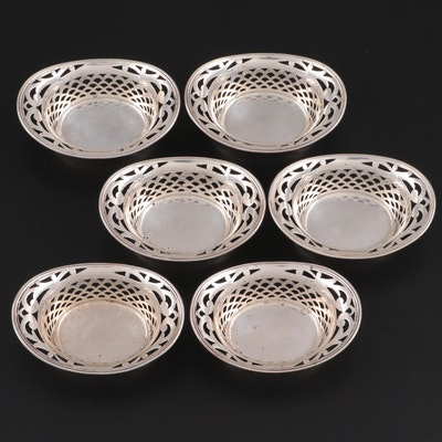 Webster Sterling Silver Pierced Nut Dishes, Early 20th Century