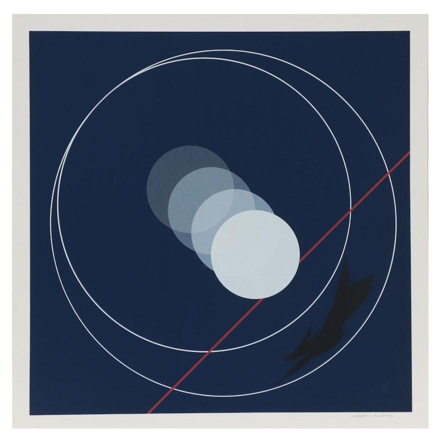 Thomas Whelan Benton Abstract Serigraph, 1981