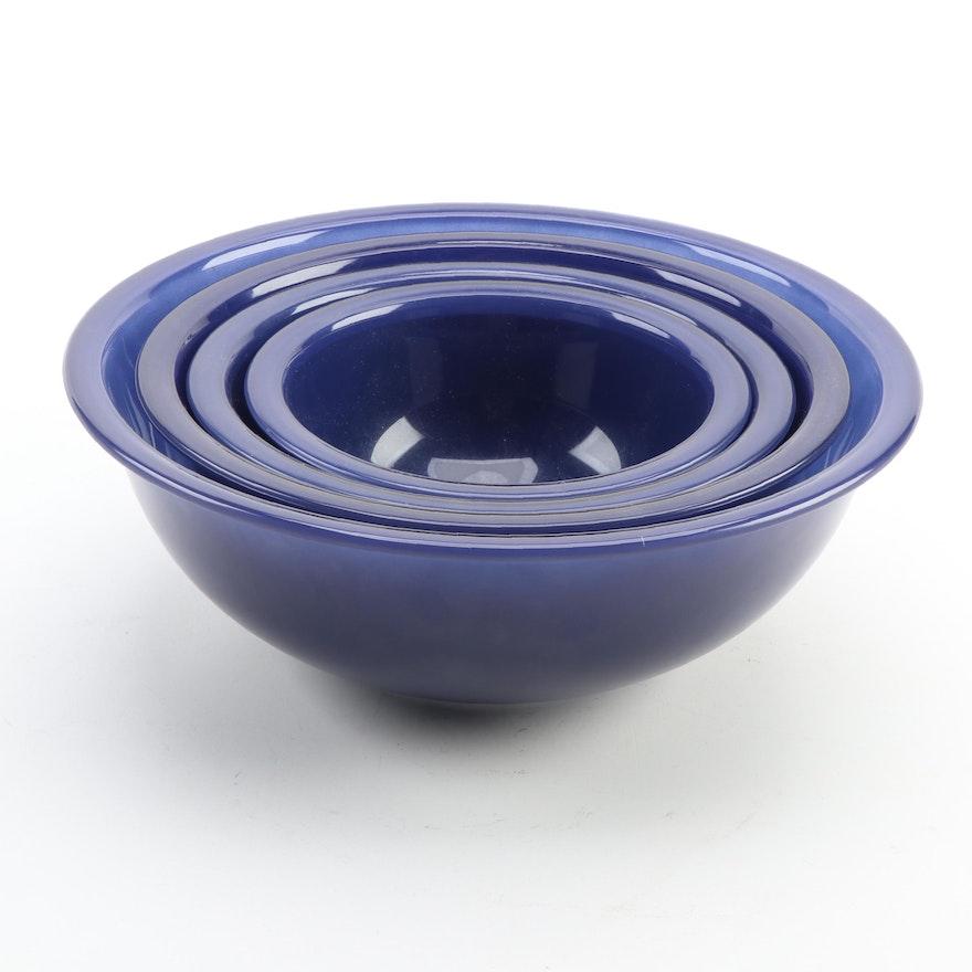 Pyrex Blue Glass Mixing Bowls