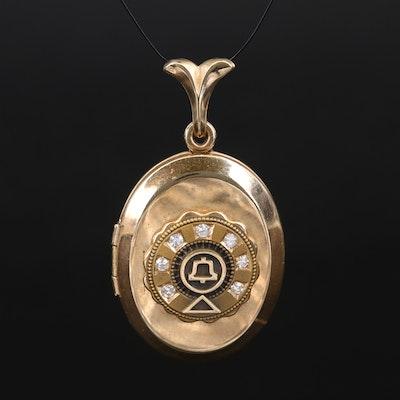 Gold-Filled Diamond Locket