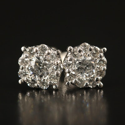 EFFY 14K Diamond Cluster Earrings