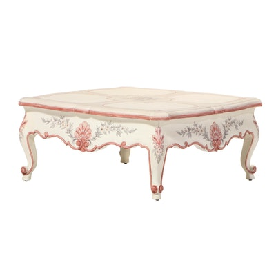 "La Barge ""Alexandrine Collection"" Louis XV Style Paint-Decorated Coffee Table"