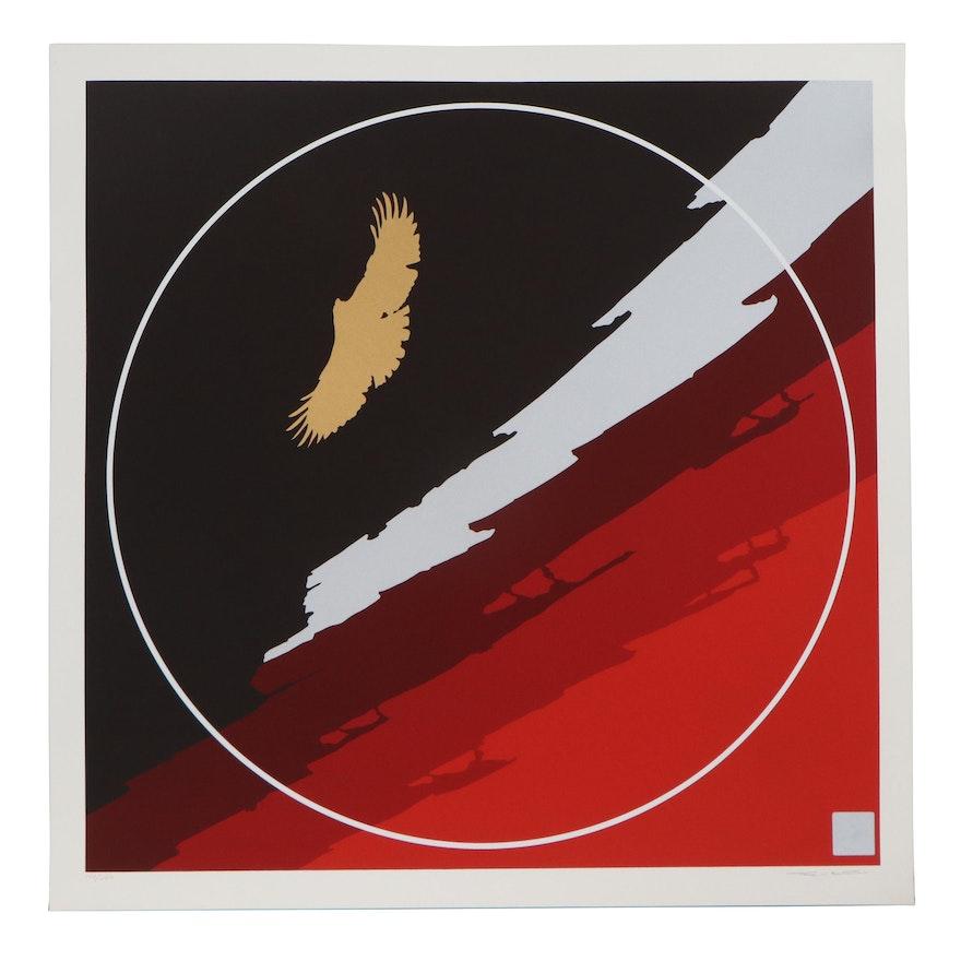"Thomas Whelan Benton Serigraph ""Golden Eagle,"" 1979"