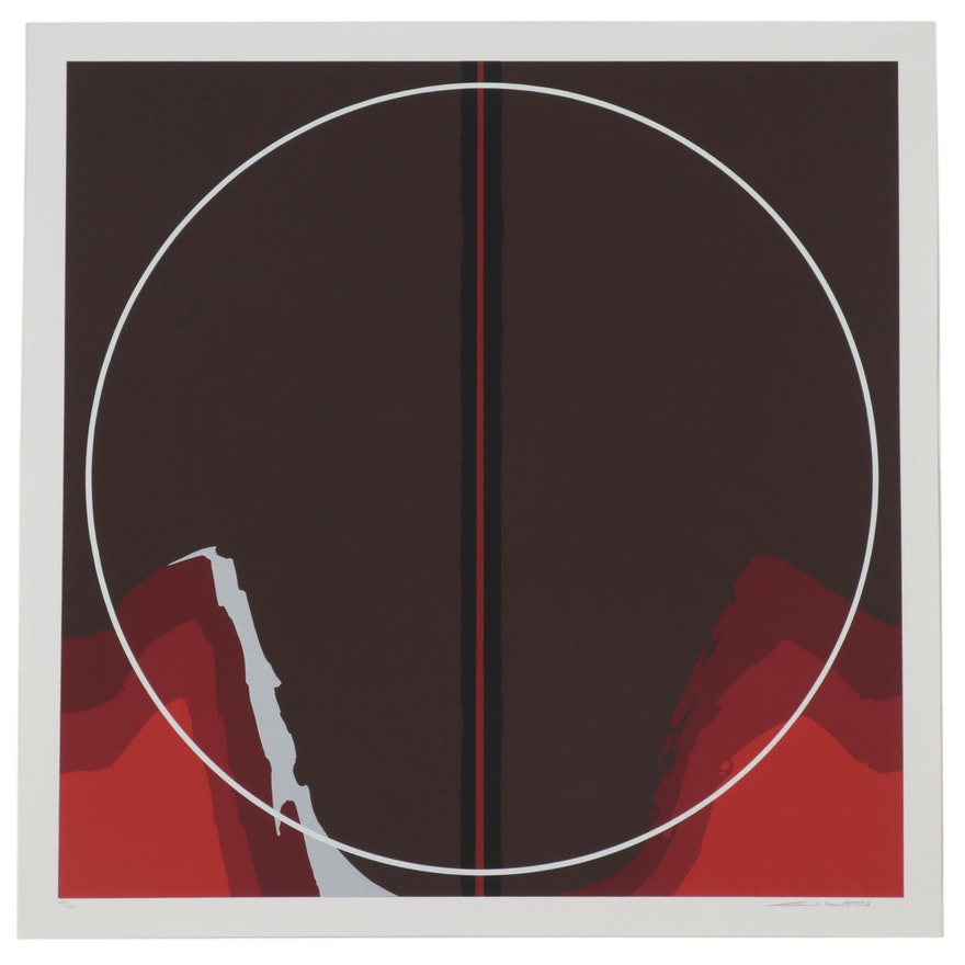 """Thomas Whelan Benton Serigraph """"Earth Series Red II,"""" 1981"""