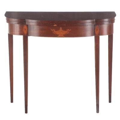 Federal Style Mahogany and Marquetry Card Table, Early 20th Century