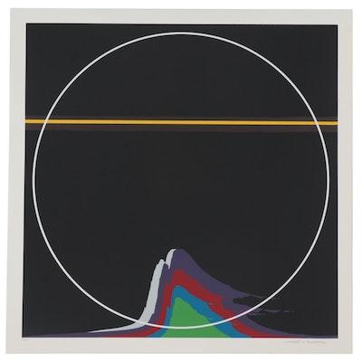 """Thomas Whelan Benton Serigraph """"Rainbow Mountain,"""" 1981"""