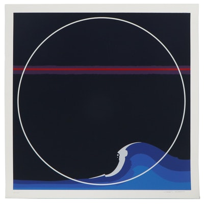 """Thomas W. Benton Serigraph """"White Cap,"""" 1979"""